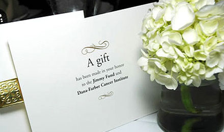 Received Wedding Gift Without Card : Jimmy Fund - Wedding and Party Favors